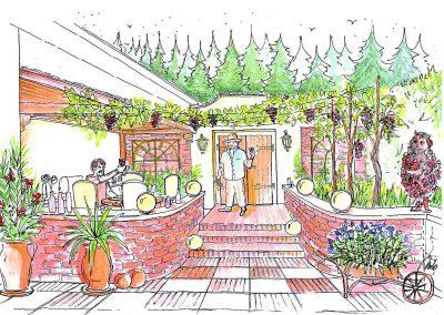 Weinkeller Garten Gestaltung einer Ideen Konzept Design Planung von Milo