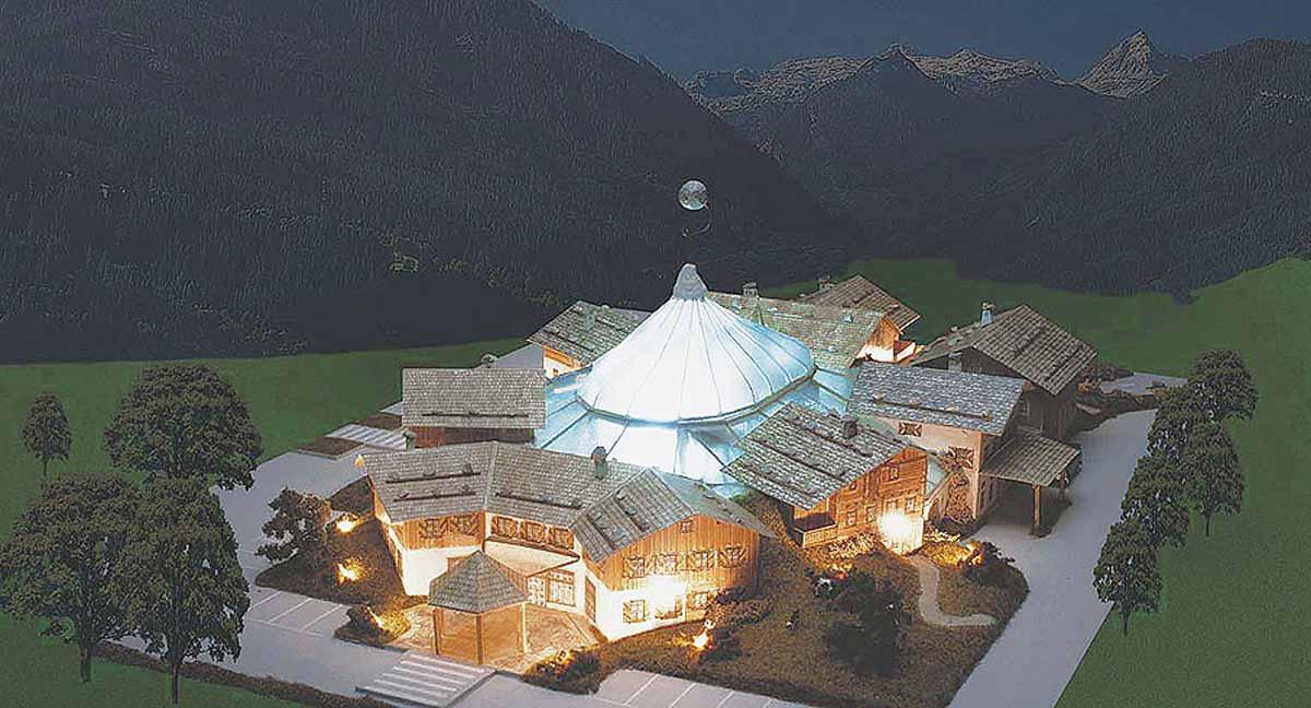 Casino Alpin Hotel Resort - großes Casino mit Hotel, Restaurants und Casino Entertainment - Konzept Modell und Interior Design Ausstattung Planung