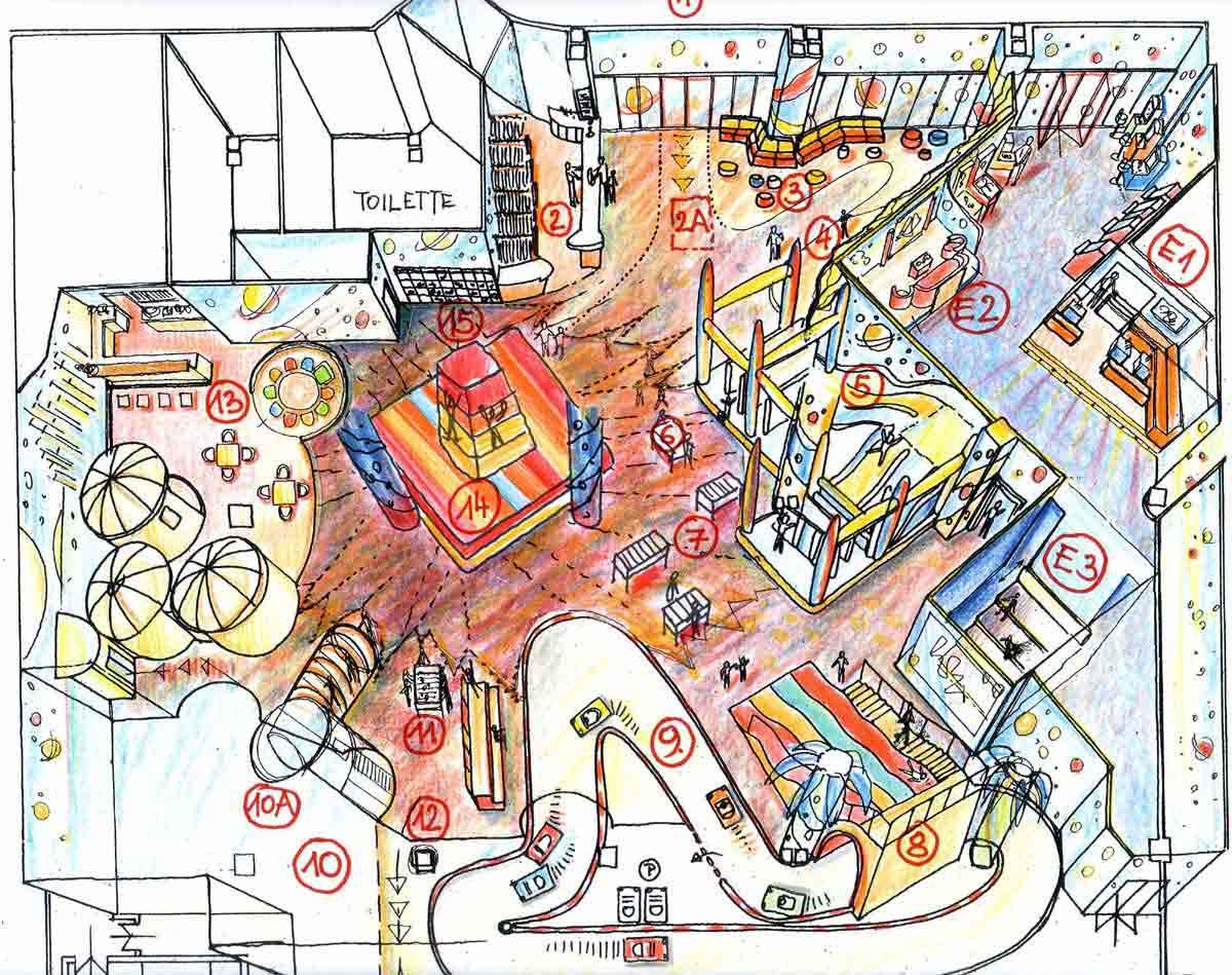 Shopping Center Astana - 2te Kinder Spielhallen Ausstattung Variante - Raum Design Planung Milo