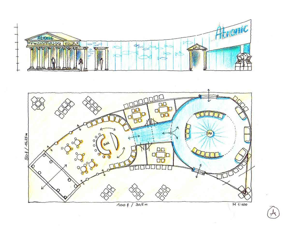 Las Vegas Casino Messe G2 - Messestand Architektur Ausstattung Design Entwurf von Milo für Atronic Casino Company USA