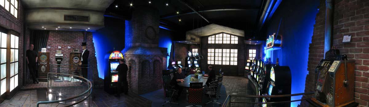 Atronic Graz - Showroom Schauraum - ein kompakte Casino Slot Machine Präsentation in der Interior Design Planung und Ausstattung von Milo