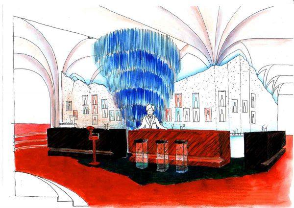 Eine Casino Led Glas Bar - unterschiedlichen Barkörpern in der Interior design Planung von Milo