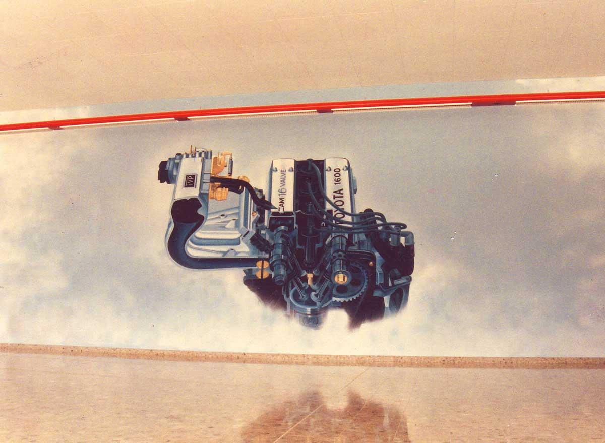 Autohaus Wandbild Malerei - dekorative Kunstmalerei für eine Raumgestaltung von Milo