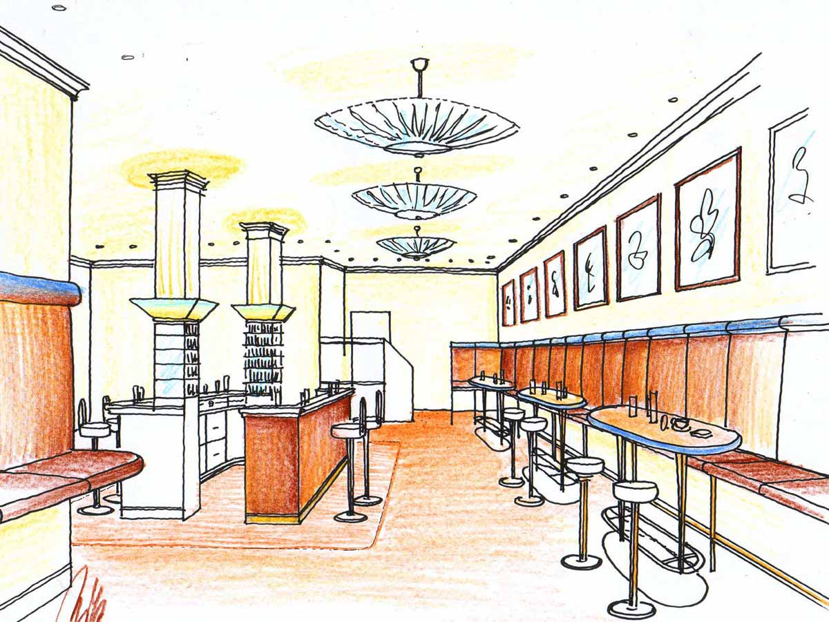 Hotel Bar - Klassik Konzept - für ein Hotel in Rumänien - Innenarchitektur Design Planung Milo