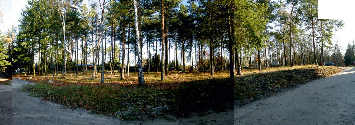 Bernsteinsee Landschaft - Bereich und der vorgesehene Grund für Milo´s Themen Minigolf Design Planung und Realisierung