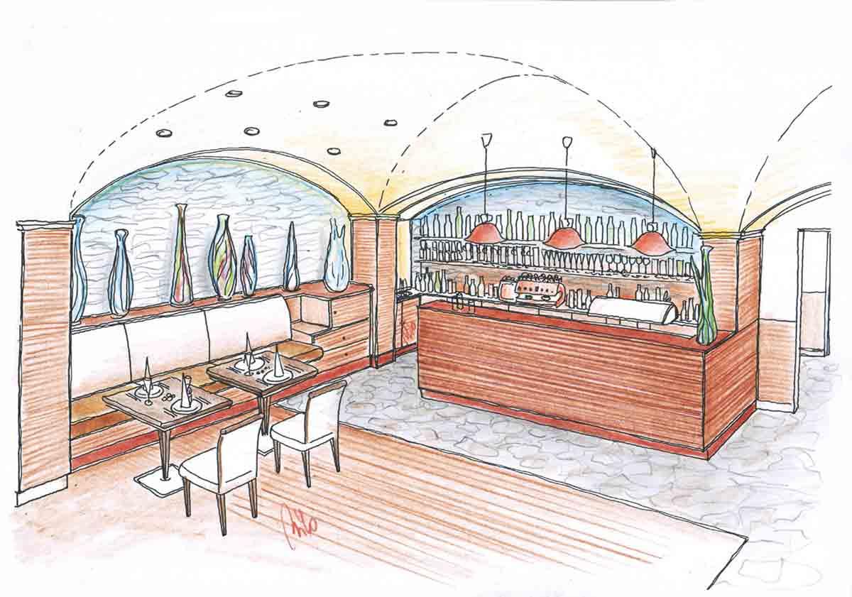Bistro Restaurant Themen Einrichtung - Milo´s elegante Lokal Design Planung