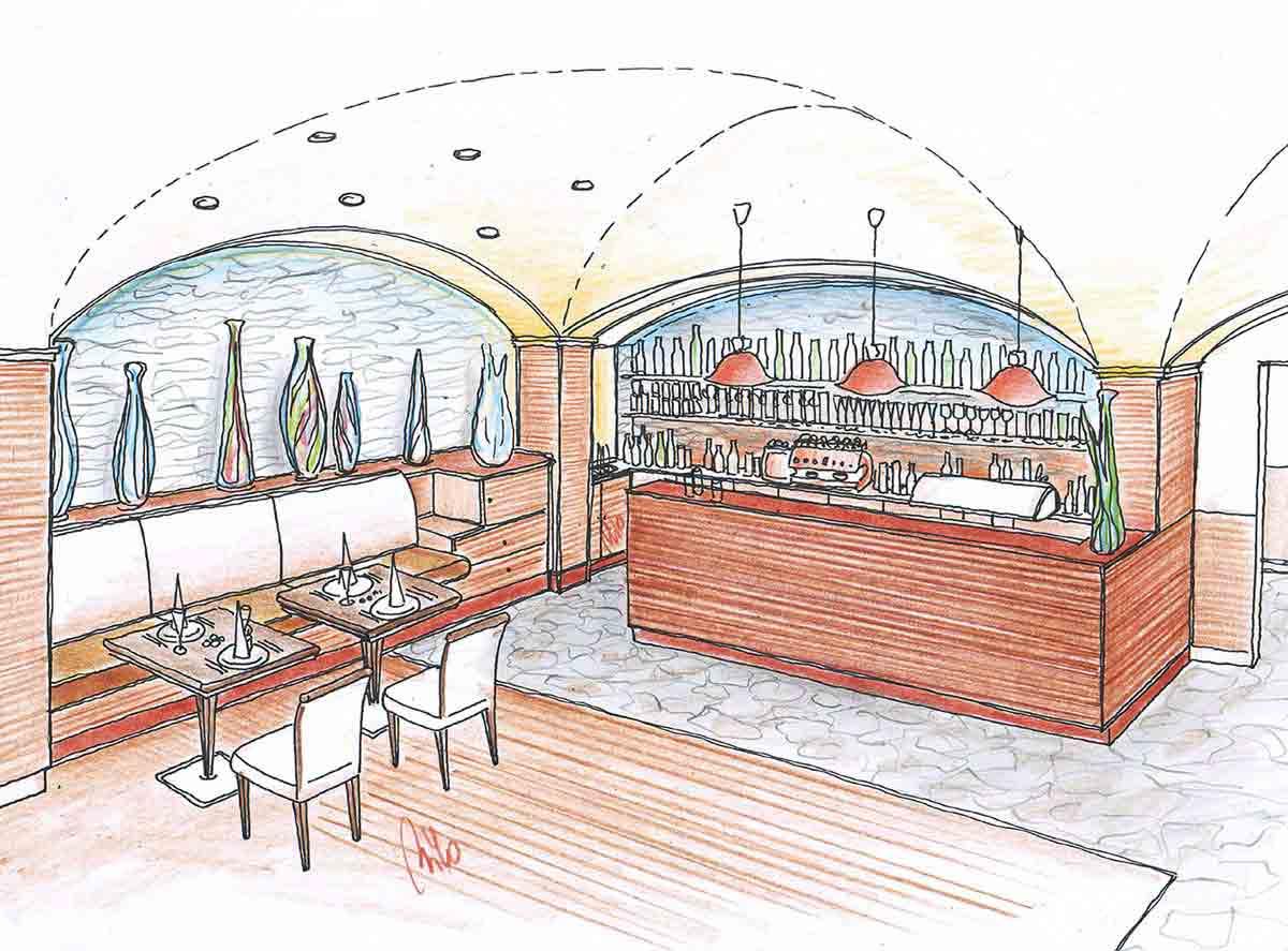 Mont Blanc Gastronomie Event Center in Brasov - Bistro Restaurant Konzept Ausstattung und Interior Design Planung