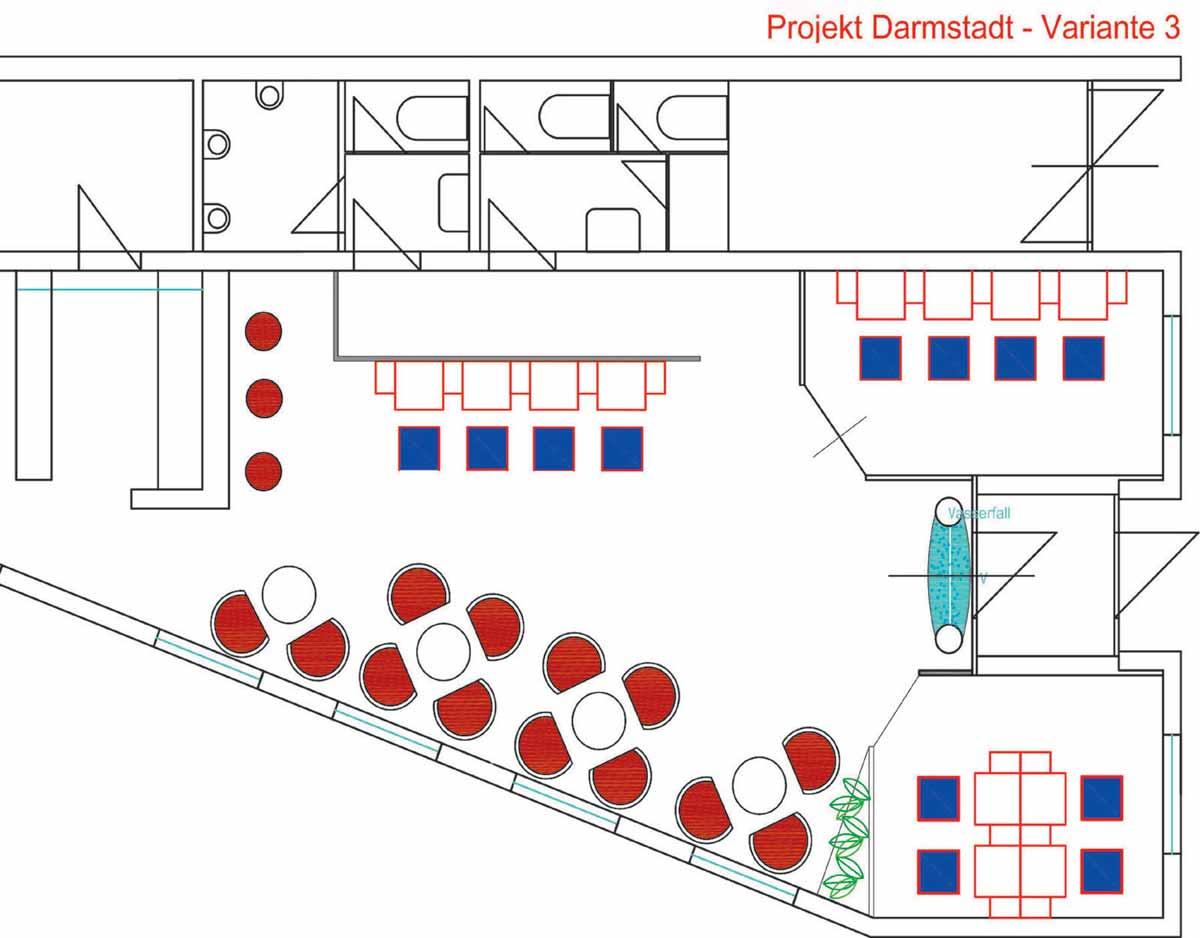 Palast Casino Grundriss Planung - kleines feines Casino mit der Innenarchitektur Interior Design Planung von Milo