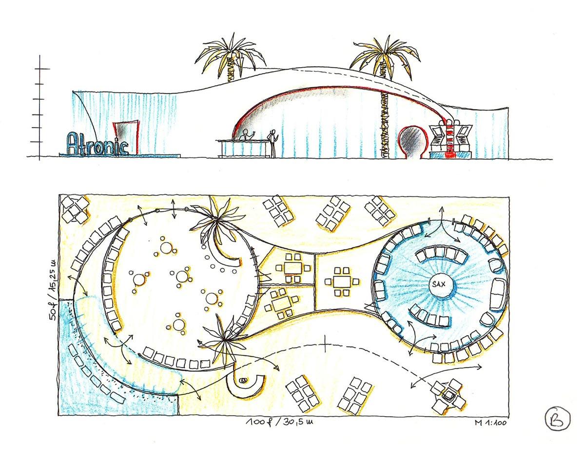Casino Messestand Ideen Planung - für Atronic auf der G2 Las Vegas - Ausstattung Design Planung Milo