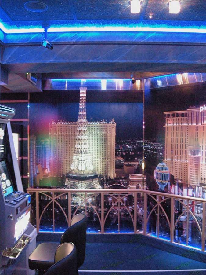 """Casino Murau - mit einer Themen Raum Ausstattung """"Las Vegas"""" in der Interior Design Planung von Milo"""