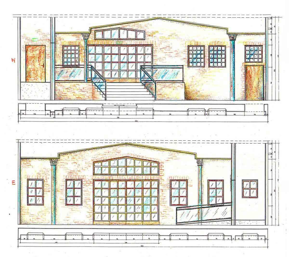 Atronic Casino Showroom Phoenix USA - Entwurf für die Wandabwicklungen - Interior Design Planung von Milo
