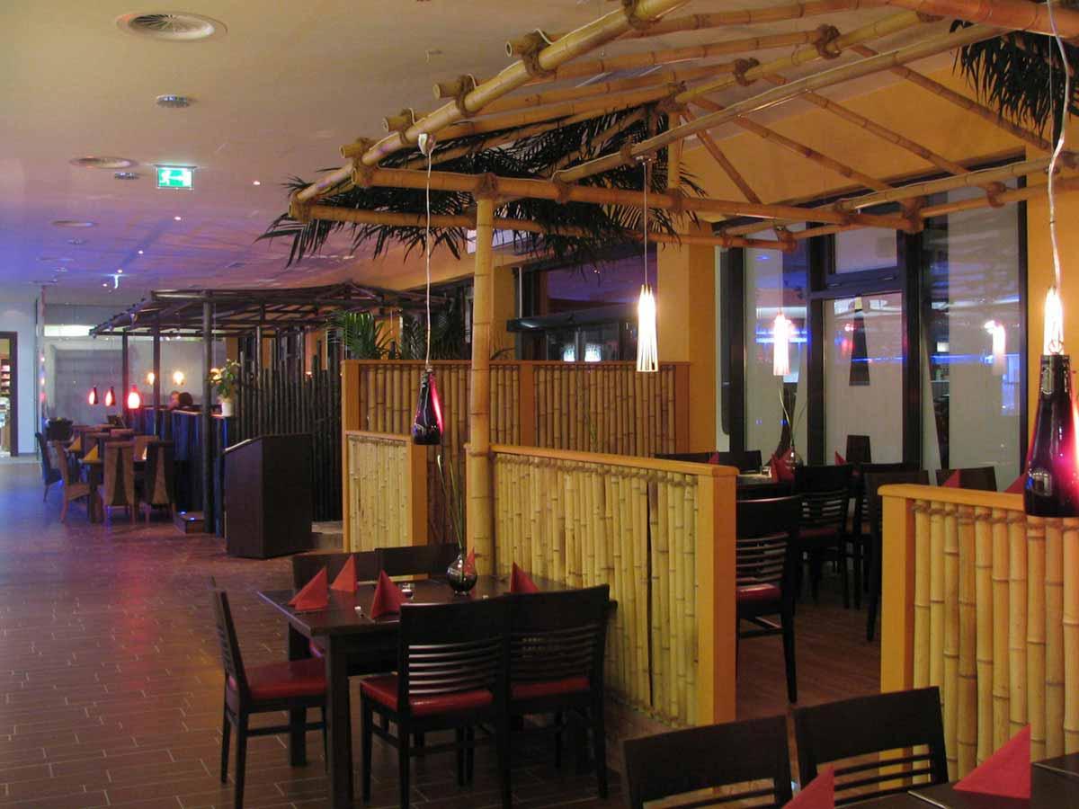 Asien Themen Restaurant im Coffee In - mit typischen Materialien in der Interior Design Planung von Milo