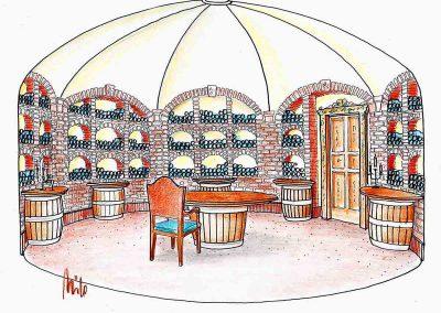 Privat und Gastronomie Weinkeller für gemütliche, launige Verkostungen - Milo´s Interior Design Planung