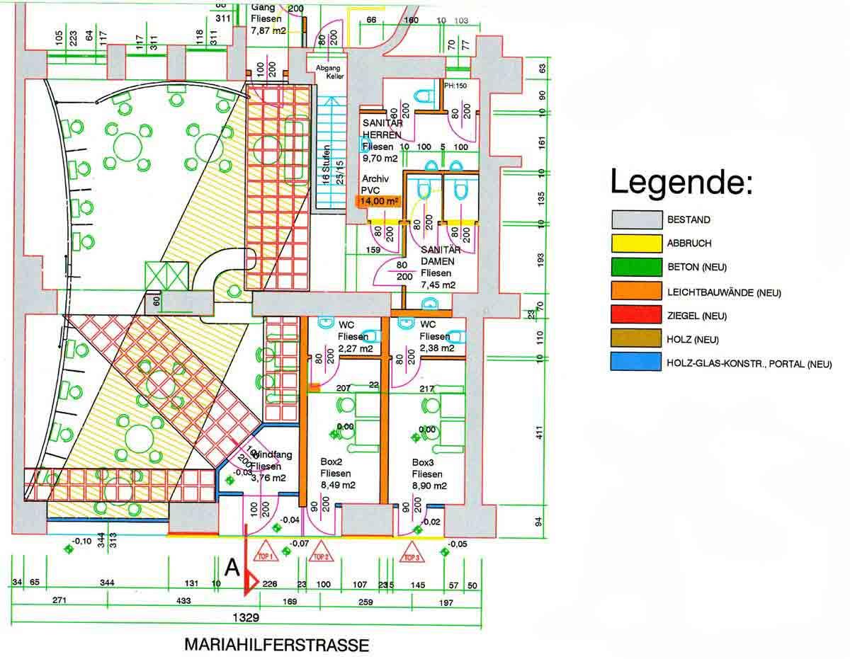 Grundriss Slot Machine Casino Mariahilfer Strasse - Interior Design Planung Milo