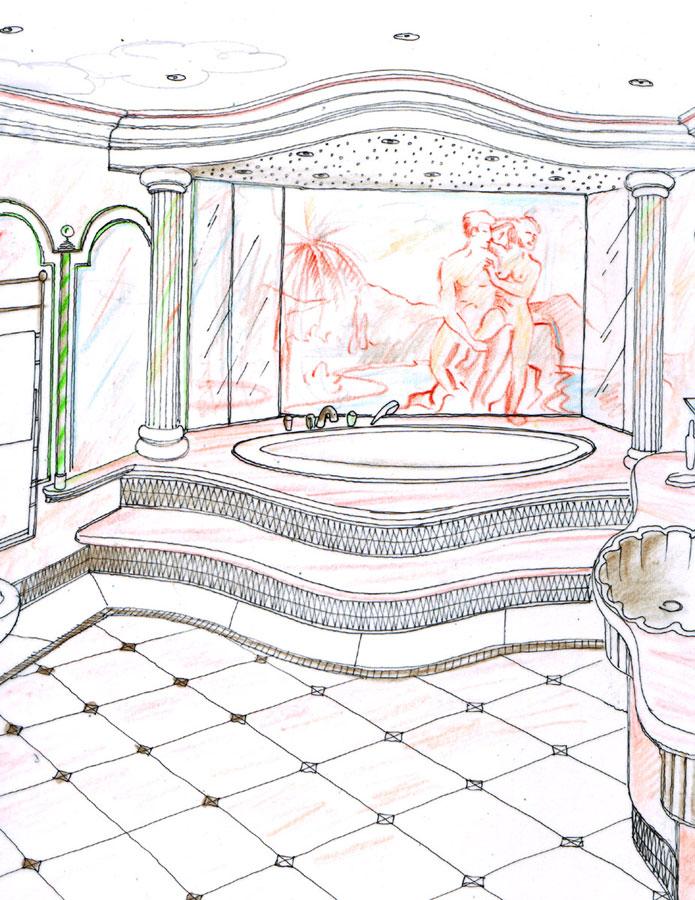 Hamburg Luxus Themen Bad Bäder - Konzept Ideen Entwurf - Interior Design Planung