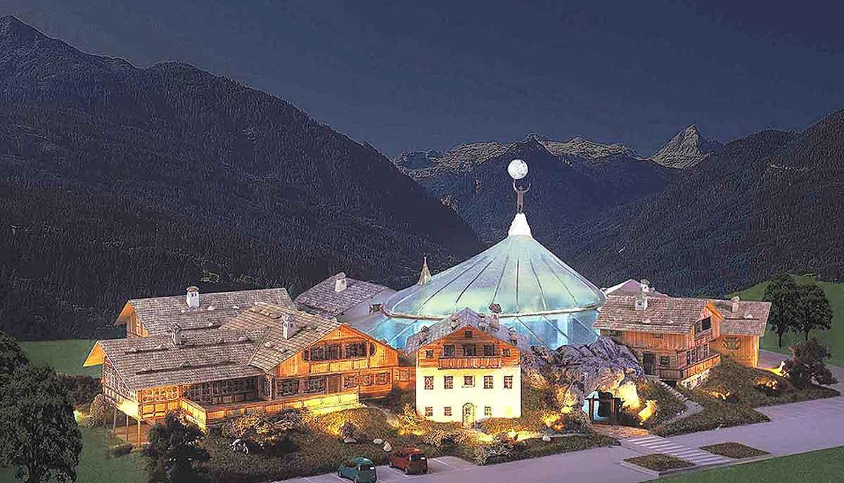Casino Themen Hotel Resort - im alpinen Stil - in der Gesamt Konzept Ausstattung und der Interior Design Planung von Milo