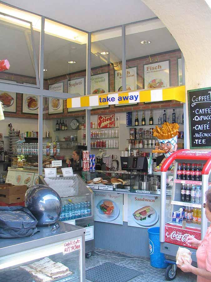 Salzburg Imbiss Gastronomie Lokal - neue Design Planung Milo