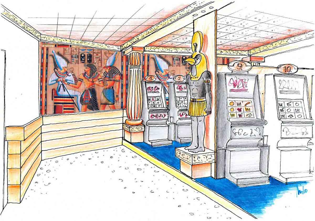 Innenraum Variante Slot Machine Casino Murau - in einer Themen Interior Design Ausstattung