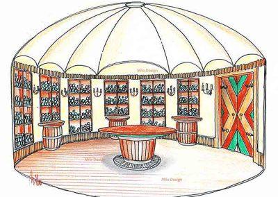 Landhaus Klassik Weinkeller Variante - in einer Interior Design Ausstattung von Milo