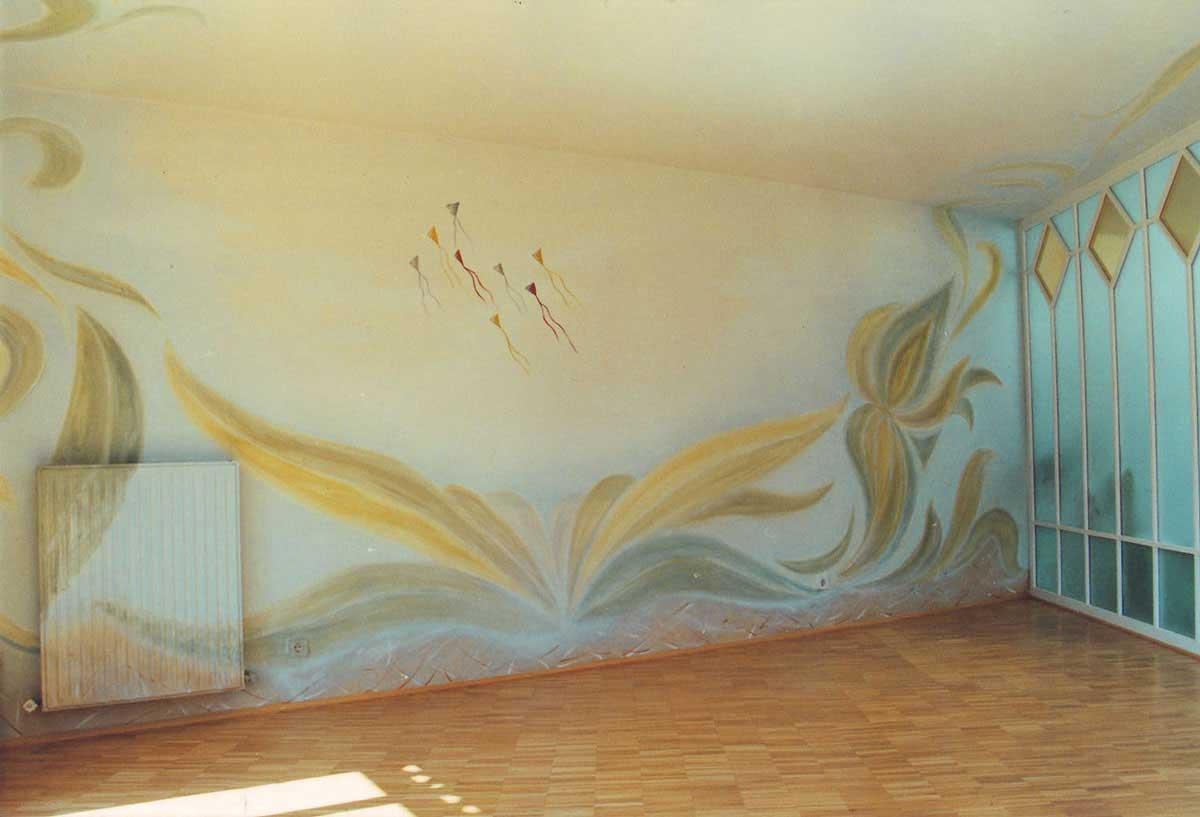 Wintergarten in Privatwohnung - Kunst Maler Malerei floraler Themen - dekorative Darstellungen und Raum Kunst Malerein Milo