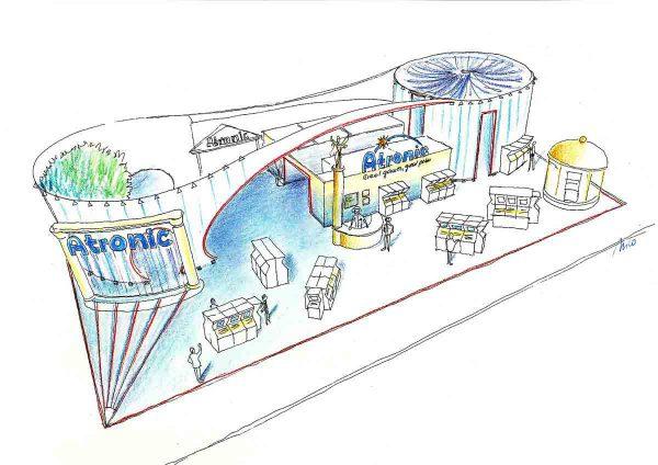 Las Vegas Casino Messe - Messestand für Atronic - Ideen Design Planung der Messestand Architektur