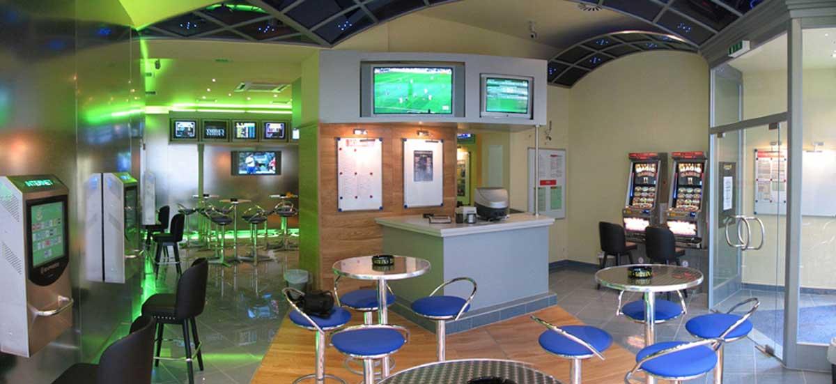Wettpunkt Mariahilferstrasse - Wettbuero und Slot Machine Casino - Interior Design Planung und Ausstattung Milo