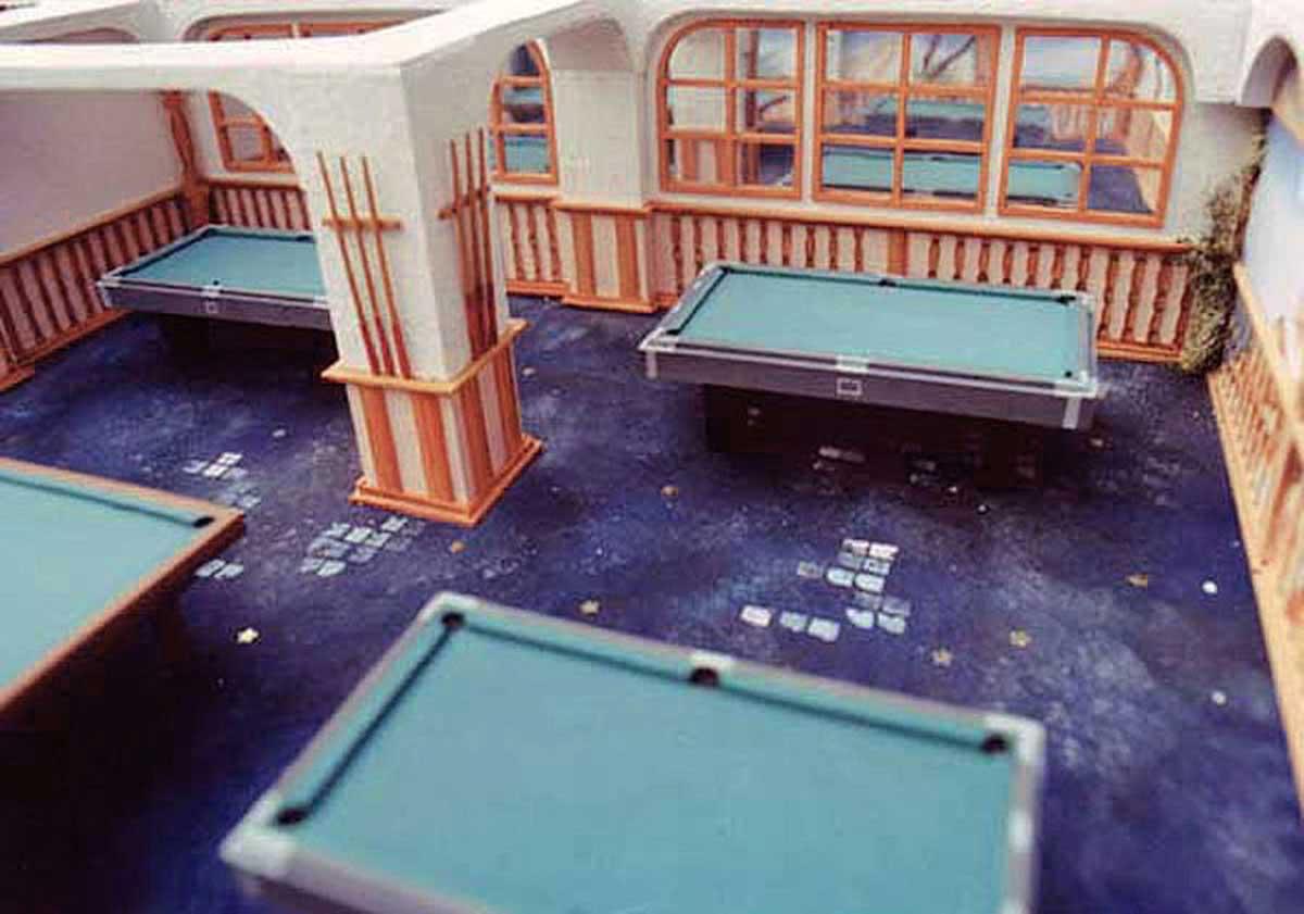 Merkur Spielhallen Konzept - Raum Design Planung und Modell - zum besseren Verständnis