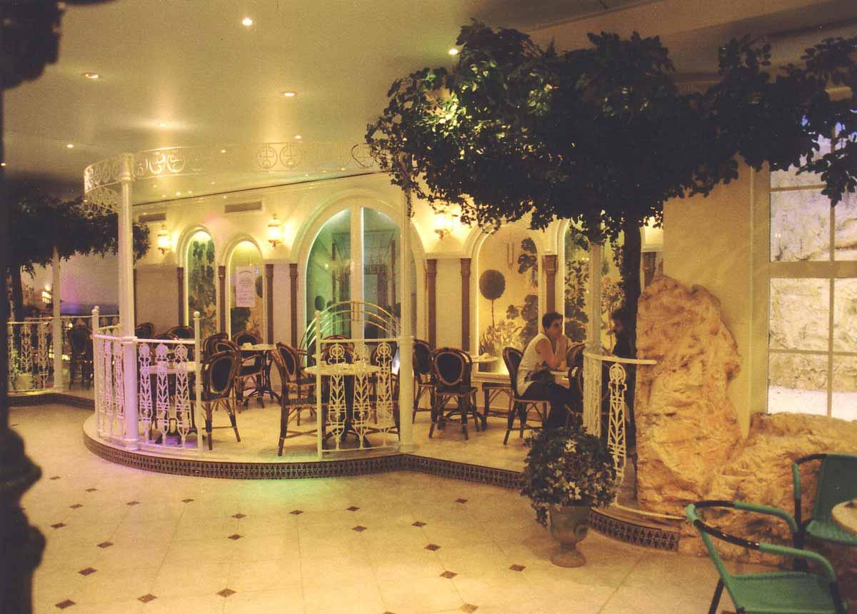 """Casino Restaurant """"Monte Carlo"""" Wien - Hotel Terrassen Ausstattung Detail - Interior Design Planung und Realisierung Milo"""