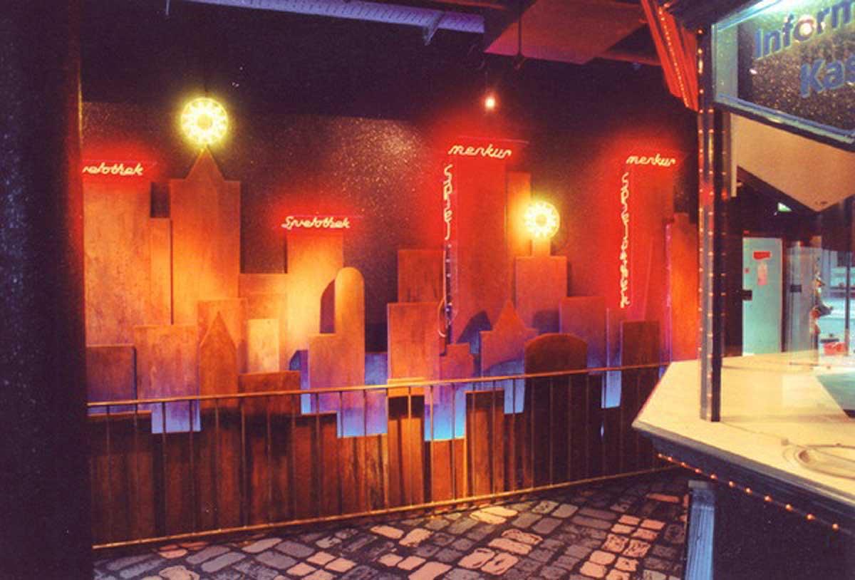"""Merkur Spielothek - Dekor Wand Gestaltung mit dem Thema """"New York"""" - Raum Innenarchitektur Design Planung Milo"""