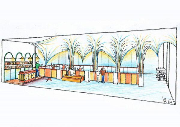 Quetlinburg Variante 2 für Ice Free Indoor Eilslaufbahn Attraktion - Interior Design Ausstattung Planung Milo