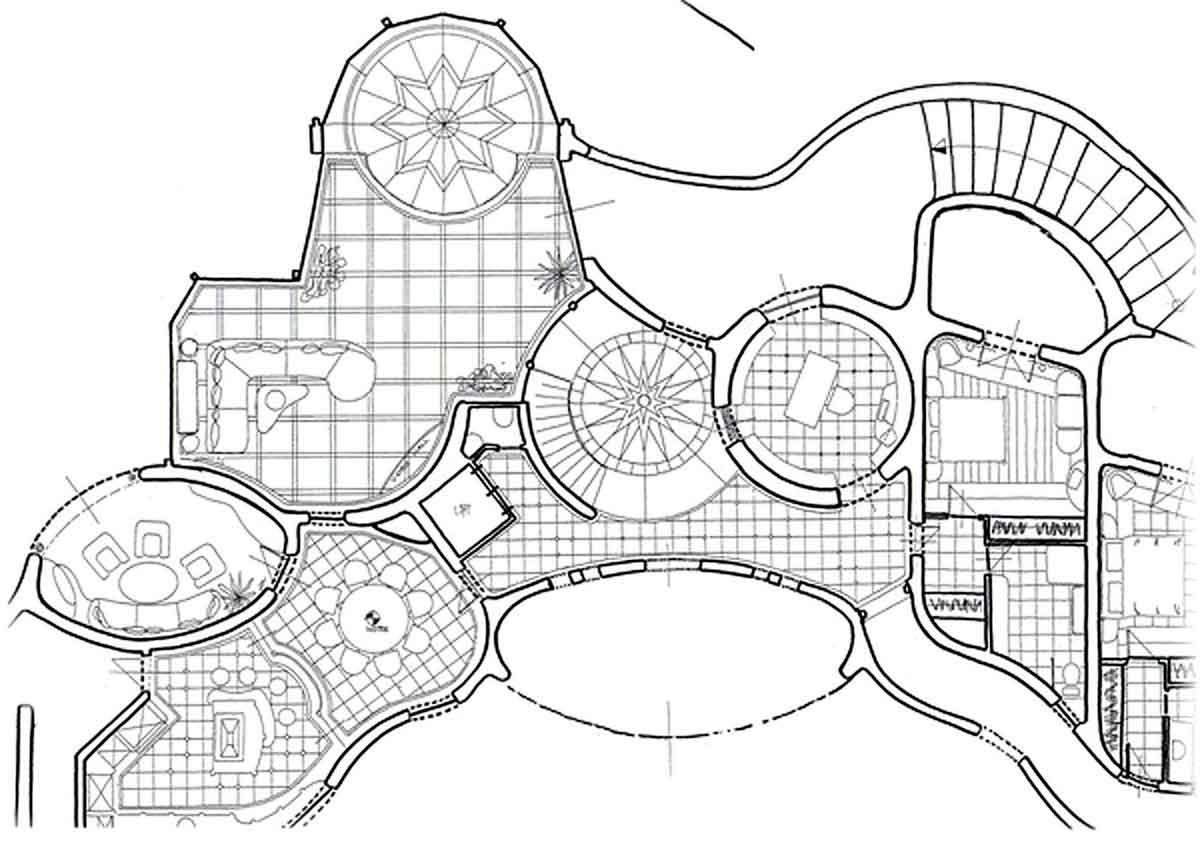 Spanien Villa Villen Grundriss - Milo´s Innenarchitektur Interior Design Planung mit Bodenplan