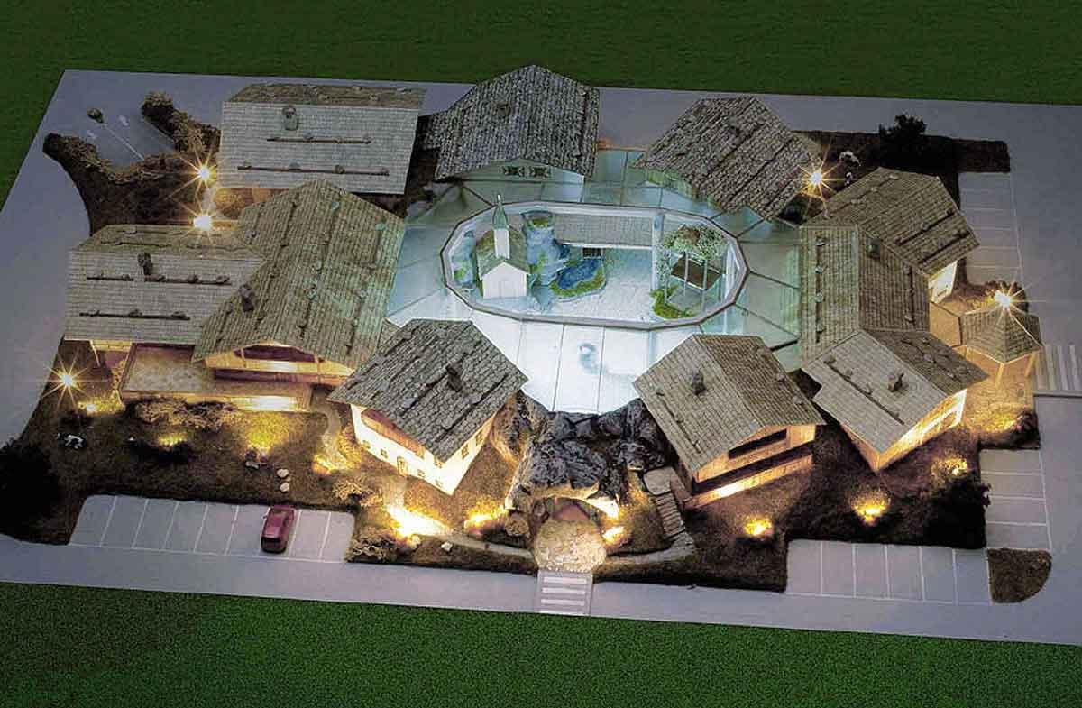 Modell Gesamtansicht - Casino Hotel Resort - mit Hotel, Restaurants und Casino Entertainment - Konzept und Interior Design Planung von Milo