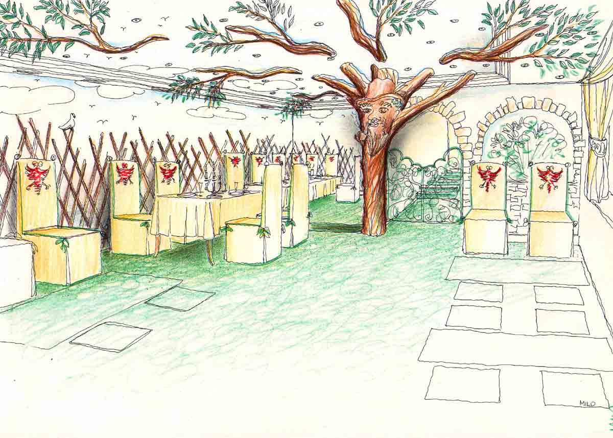 Innenarchitektur skizze cafe  Restaurant Ausstattungen - Ideen Konzept Interior Design Planungen ...