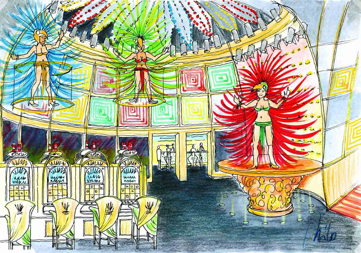 """Tobago """"lost world"""" Casino Effekt Ausstattung - eine tolle Licht und Interior Design Planung"""