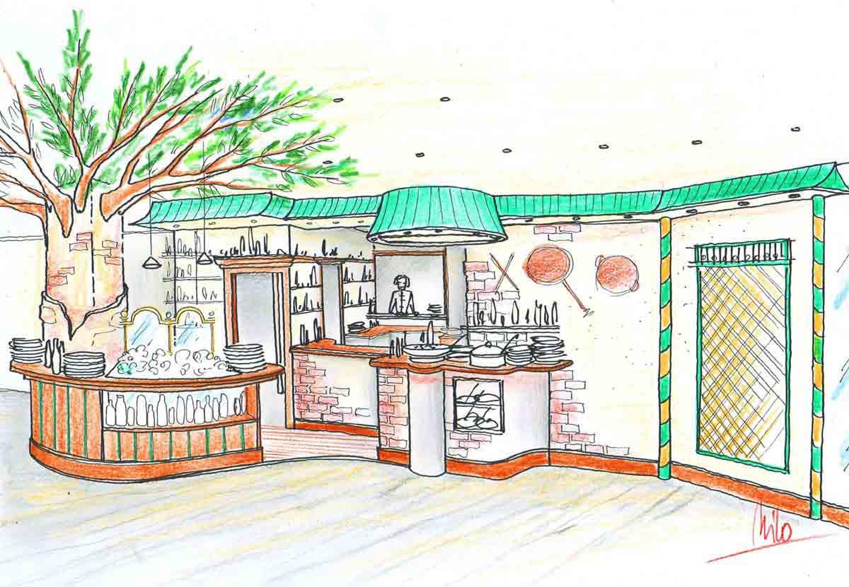 Wettpunkt Schwechat - Gastronomie Konzept für ein SB Restaurant in einer Milo Interior Design Planung