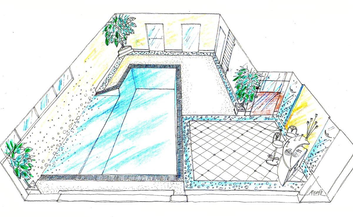 Wien Privat Hallenbad - ein elegantes Konzept in einem modernen Raum - Innenarchitektur Interior Design Planung von Milo