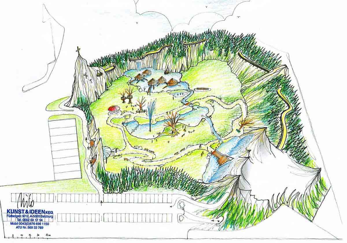 Wolfgangsee Kinder Abenteuer Themen Park - Ausstattung Design Planung Milo