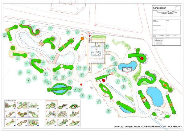 Adventure Minigolf Wolfsburg - Gesamtplanung Minigolf und Dekoration Ausstattung - Konzept Design Planung Milo