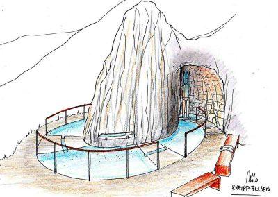 Kitzlochklamm Erlebnis Wanderweg - Erfrischung am Weg in einem Kneippbecken finden - Ideen Konzept Design Planung Milo