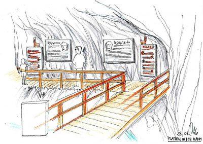 Kitzlochklamm Wanderweg - Info und Frage Stationen - auf dem Weg durch die Klamm - Milo Konzept Planung