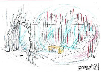 Erlebnis Wanderweg Kitzlochklamm - Grotte am Weg - Glas Schutz für die Grotte - Raum Ideen Design Planung Milo