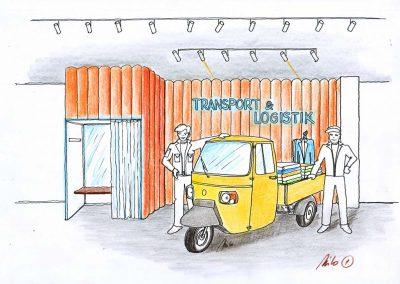 Transportgewerbe Berufsbekleidung Shop Showroom - Ideen Konzept Design Planung