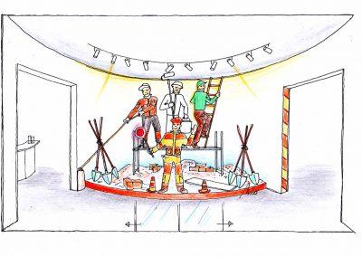 Dekorativer Shop Eingang für Berufsbekleidung