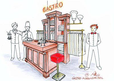 Gastronomie Berufsbekleidung Showroom und Shop Verkaufsraum Design Planung