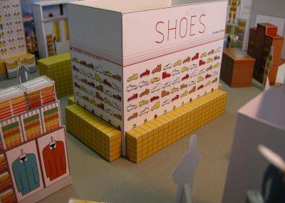 Schuhe Shoes Berufsbekleidung - eine Shop Showroom Interior Design Planung