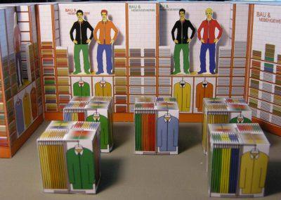 Shop und Showroom für Berufsbekleidung - eine effektvolle Ausstattung Design Planung