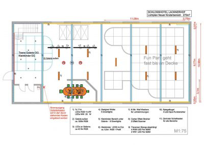 Erste Ideenplanung Kinder Indoor Spielplatz Grundriss